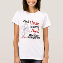Heroes Become Angels Daddy Lung Cancer T-Shirt