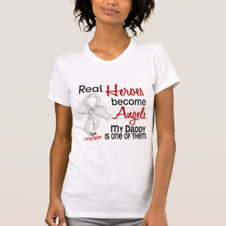 Heroes Become Angels Daddy Lung Cancer T Shirt