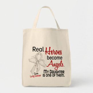 Heroes Become Angels Daughter Lung Cancer Tote Bag