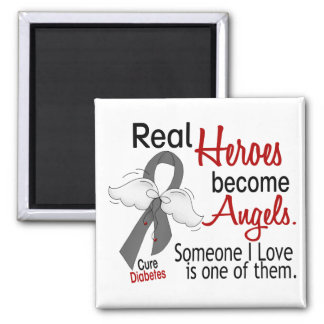 Heroes Become Angels Diabetes 2 Inch Square Magnet