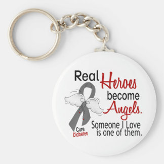 Heroes Become Angels Diabetes Keychain