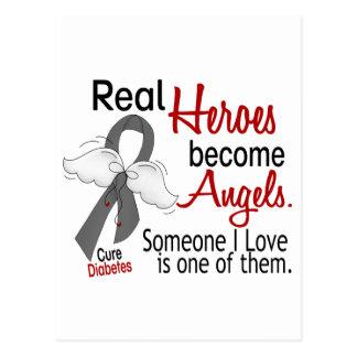Heroes Become Angels Diabetes Postcard