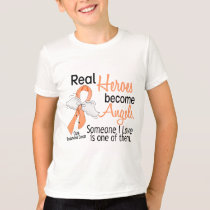 Heroes Become Angels Endometrial Cancer T-Shirt