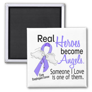 Heroes Become Angels Esophageal Cancer 2 Inch Square Magnet