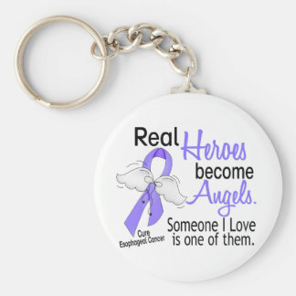 Heroes Become Angels Esophageal Cancer Basic Round Button Keychain