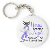 Heroes Become Angels Esophageal Cancer Keychain