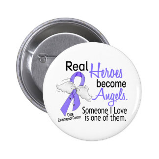 Heroes Become Angels Esophageal Cancer Pinback Button