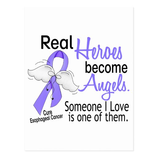 Heroes Become Angels Esophageal Cancer Post Card