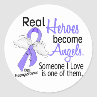 Heroes Become Angels Esophageal Cancer Sticker