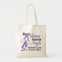 Heroes Become Angels Esophageal Cancer Tote Bag