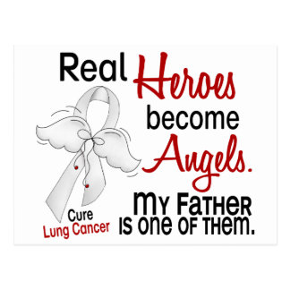 Heroes Become Angels Father Lung Cancer Postcard