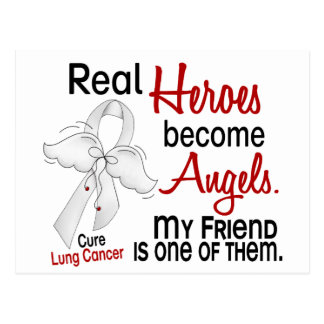 Heroes Become Angels Friend Lung Cancer Postcard