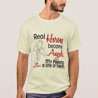 Heroes Become Angels Friend Lung Cancer T-Shirt