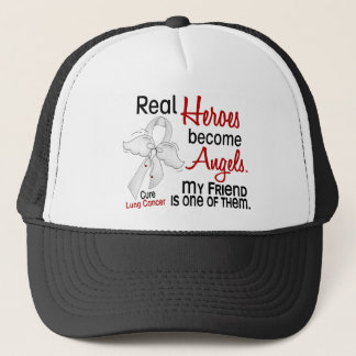 Heroes Become Angels Friend Lung Cancer Trucker Hat