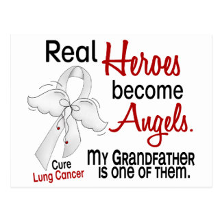 Heroes Become Angels Grandfather Lung Cancer Postcard
