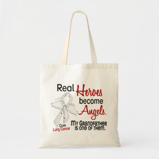 Heroes Become Angels Grandfather Lung Cancer Tote Bag