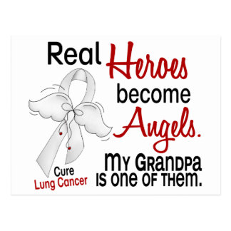 Heroes Become Angels Grandpa Lung Cancer Postcard