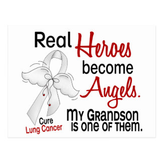Heroes Become Angels Grandson Lung Cancer Postcard
