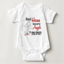 Heroes Become Angels Great Grandma Lung Cancer Baby Bodysuit