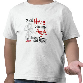 Heroes Become Angels Great Grandma Lung Cancer Tshirts