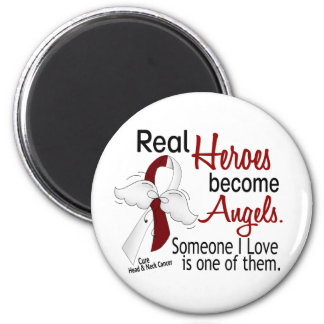 Heroes Become Angels Head And Neck Cancer 2 Inch Round Magnet