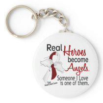Heroes Become Angels Head And Neck Cancer Keychain