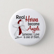 Heroes Become Angels Head And Neck Cancer Pinback Button