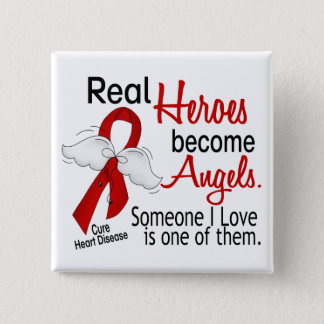 Heroes Become Angels Heart Disease Button
