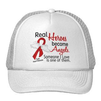 Heroes Become Angels Heart Disease Trucker Hats