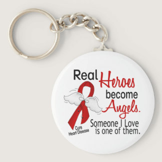 Heroes Become Angels Heart Disease Keychain