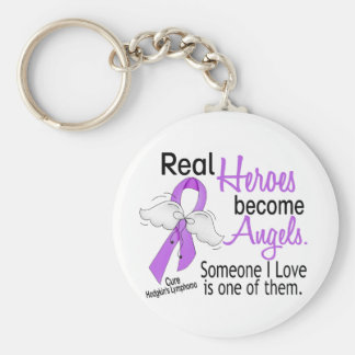 Heroes Become Angels Hodgkins Lymphoma Keychain