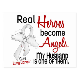 Heroes Become Angels Husband Lung Cancer Postcard