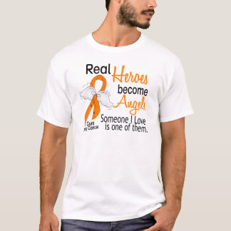 Heroes Become Angels Kidney Cancer T-Shirt