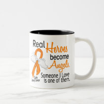 Heroes Become Angels Kidney Cancer Two-Tone Coffee Mug