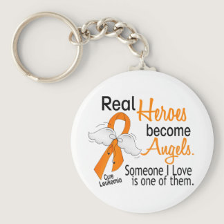 Heroes Become Angels Leukemia Keychain