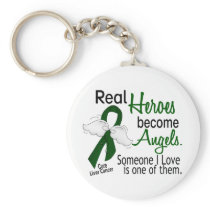 Heroes Become Angels Liver Cancer Keychain