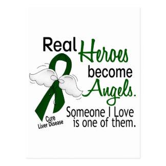 Heroes Become Angels Liver Disease Postcard