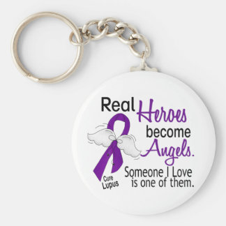 Heroes Become Angels Lupus Key Chains