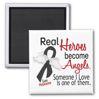 Heroes Become Angels Melanoma 2 Inch Square Magnet