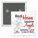 Heroes Become Angels Mesothelioma 2 Inch Square Button