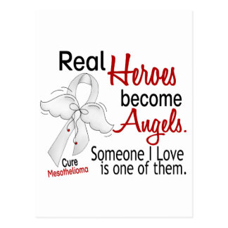 Heroes Become Angels Mesothelioma Postcard