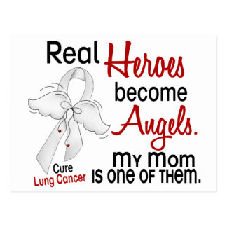 Heroes Become Angels Mom Lung Cancer Postcard