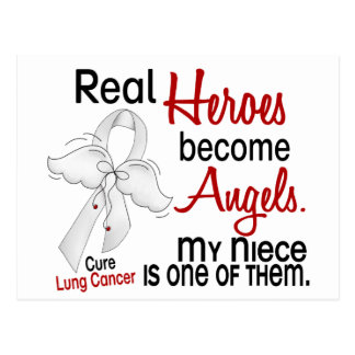 Heroes Become Angels Niece Lung Cancer Postcard