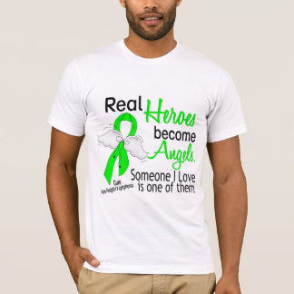 Heroes Become Angels Non-Hodgkins Lymphoma T-Shirt