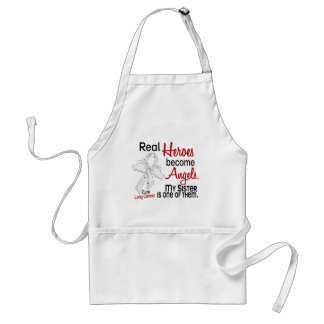 Heroes Become Angels Sister Lung Cancer Adult Apron