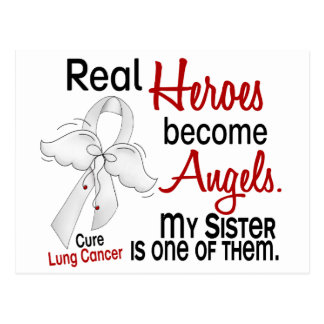 Heroes Become Angels Sister Lung Cancer Postcard
