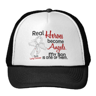 Heroes Become Angels Son Lung Cancer Trucker Hat