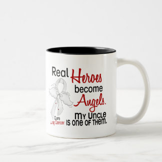 Heroes Become Angels Uncle Lung Cancer Mugs
