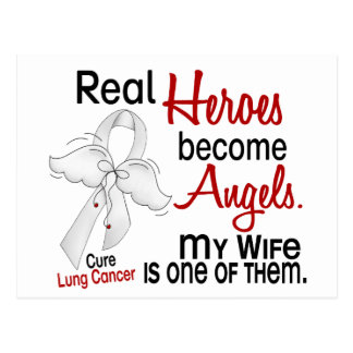 Heroes Become Angels Wife Lung Cancer Postcard