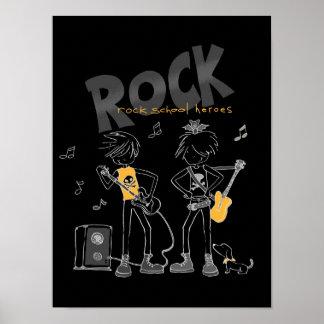 Héroes de la escuela de la roca póster